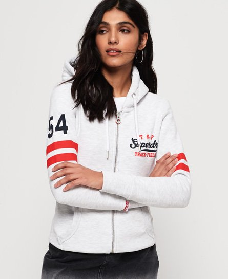 Superdry Sweat à capuche zippé Track & Field