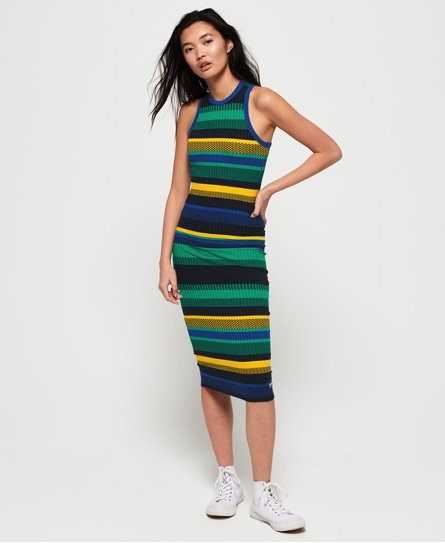 Superdry Stripet Knitted midi-kjole