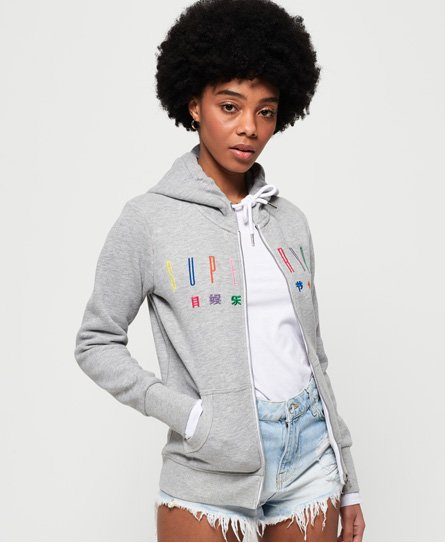 Superdry Carly Carnival Embroidered Zip Hoodie
