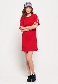 0baa878327f9 Γυναικεία - Κοντομάνικο Φόρεμα Φούτερ Georgia σε κόκκινο Festive ...