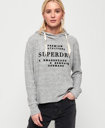 Superdry Sudadera corta con capucha Super Soft
