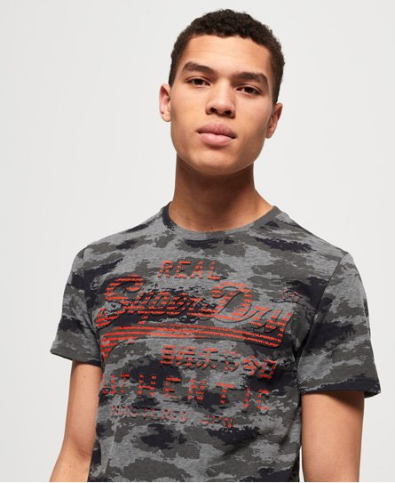 Superdry Vintage Logo Authentic T-Shirt mit Tarnmuster