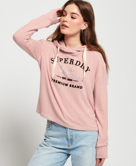 Superdry Kort Super Soft-hettegenser