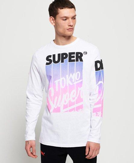 Superdry T-shirt a maniche lunghe con motivo Ticket Type