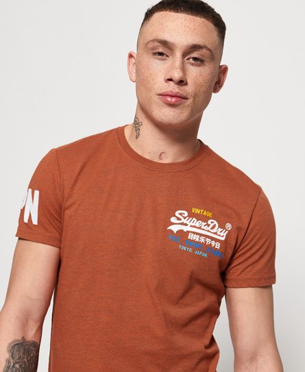Superdry Camiseta ligera con logo Vintage degradado Cali
