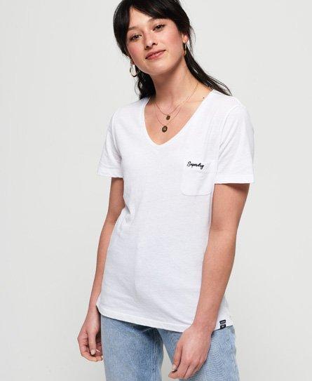 Superdry T-shirt à col V Essential Orange Label