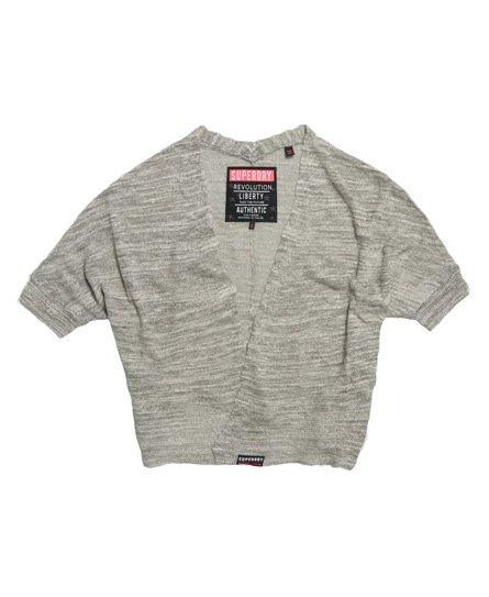 Superdry Nevada Springs Slub Grey Cardigan
