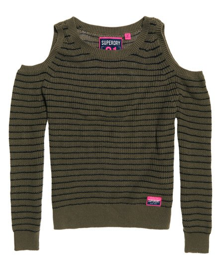 Superdry Ribbed Cold Shoulder Knit Top
