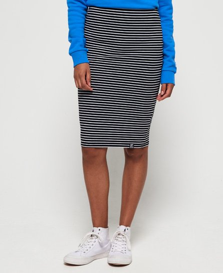 Superdry Stripe Midi Skirt