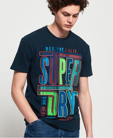 Superdry T-shirt semi-épais oversize à logo graphique Acid