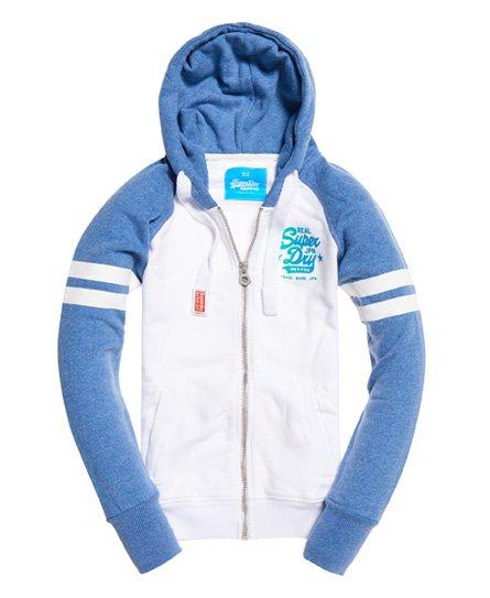 Superdry Real Vintage Iridescent hoodie met rits