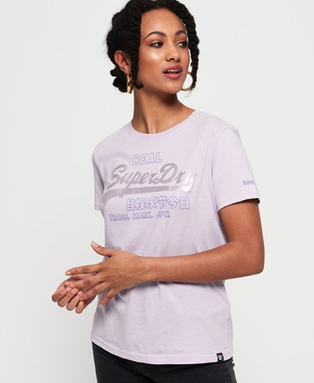Superdry T-shirt avec logo Vintage satiné Code