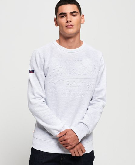 Superdry Premium Goods Embossed Debossed Sweatshirt