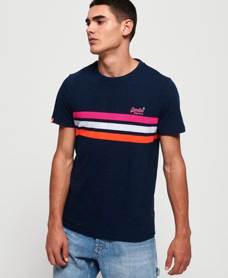 Superdry Orange Label Fluro Chest Band T-Shirt