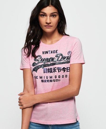 Superdry T-shirt à sequins Premium Goods