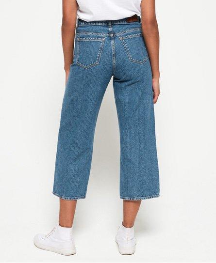 8e1da6ce Superdry Phoebe jeans med vide ben - Damer Farkut