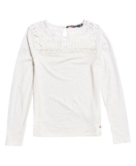 d278b31b2b25 Γυναικεία - Μακρυμάνικη Μπλούζα Alana με Κροσέ και Δαντέλα σε ...