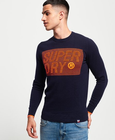 Superdry Speed Logo Crew Jumper