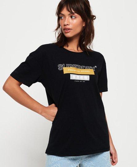 Superdry Premium Brand Portland T-Shirt mit Aufnähern