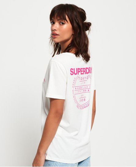 Superdry Katie T-Shirt mit U-Ausschnitt und Grafikprint