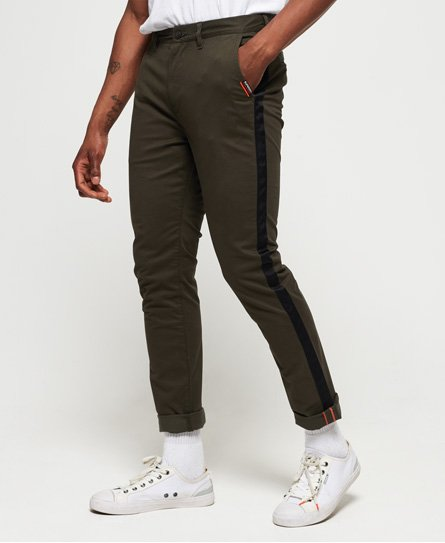 Superdry Pantalon chino International avec bandes latérales