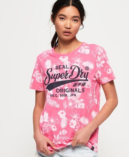 Superdry T-shirt Real Originals Mono Tropical