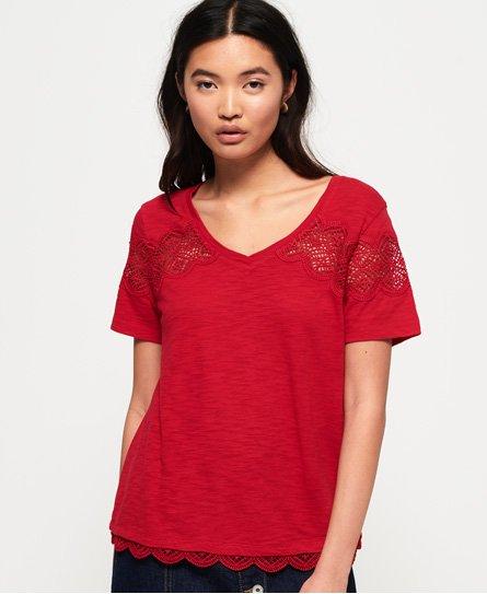 Superdry T-shirt avec empiècement dentelle Lizzie
