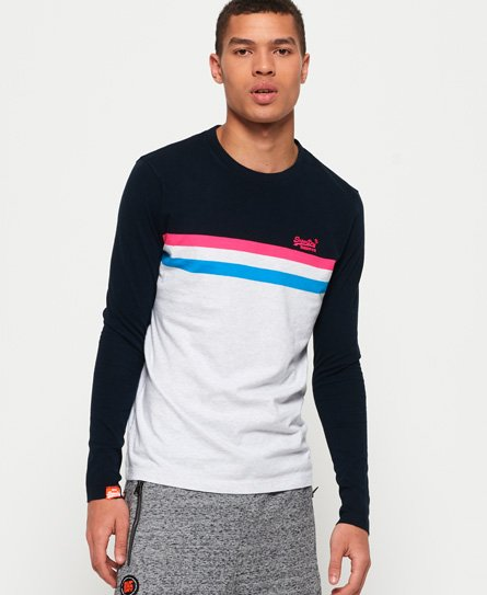 Superdry Orange Label Neon Stripe Long Sleeve T-Shirt