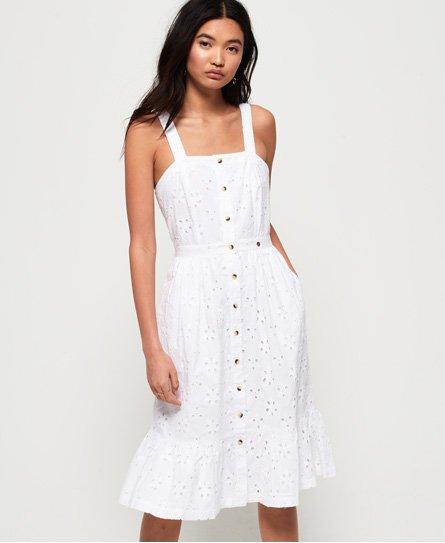 Superdry Camille Button Schiffli Dress