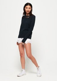 bd46df1f637 Superdry Alana Crochet Lace Long Sleeve Top - Women's Tops