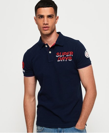 Superdry Polo en coton biologique Super State Champion