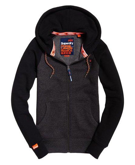 b5a015b7a55a2 Superdry Orange Label Raglan Zip Hoodie - Men's Hoodies