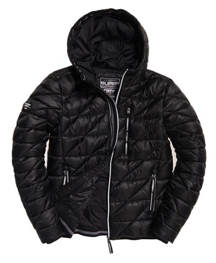 ab0d0e7ee2aec Mens - Diagonal Quilt Fuji Jacket in Black | Superdry