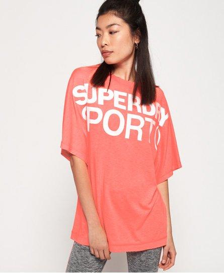 Superdry T-shirt taglio ampio Boyfriend Active
