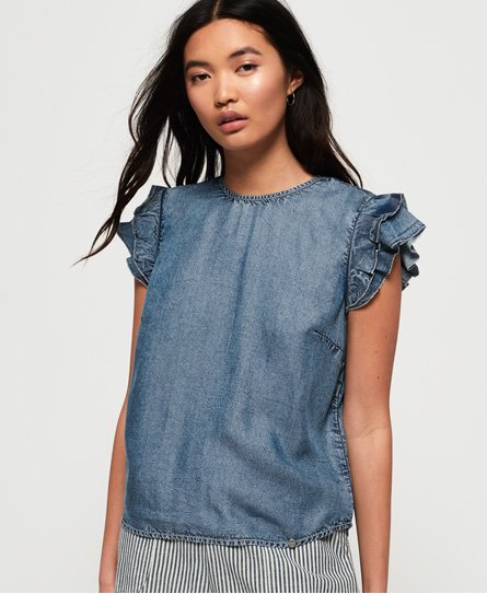 Superdry Christa Ruffle Top