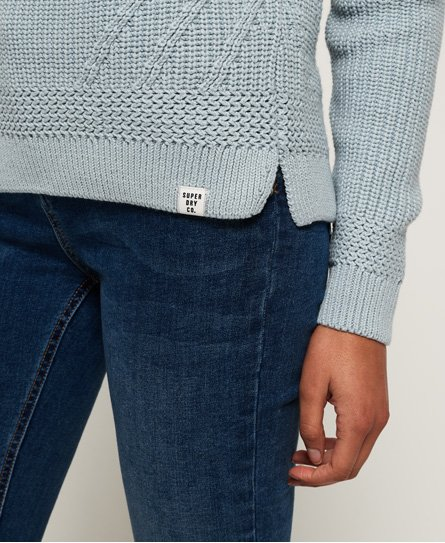 dc0caf19175c4e Superdry Hennie Diamond Knit Jumper - Women's Sweaters