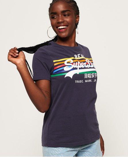 9e95edc28d4ff9 Vintage Logo Rodeo Rainbow Stripe T-Shirt