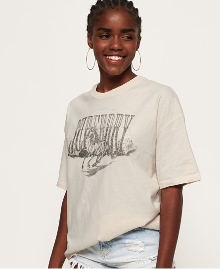 Superdry Womens Boyfriend Band Graphic T-Shirt