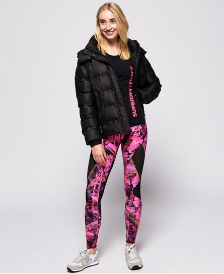 Superdry Active Mesh Panel Leggings