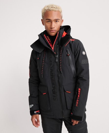 Mens Ultimate Snow Rescue Jacket In Onyx Black Superdry