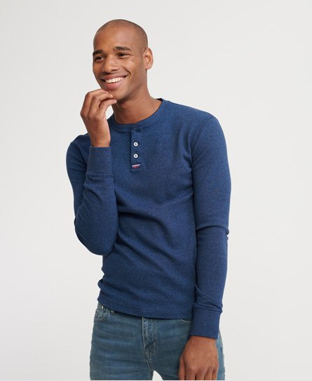 Superdry Heritage Long Sleeve Henley Top