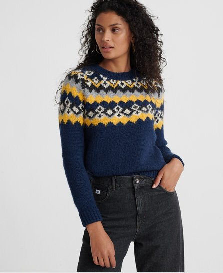Superdry Savannah Yoke Jacquard Knitted Jumper