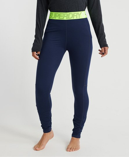 Superdry Leggings con strato base in fibra Carbon