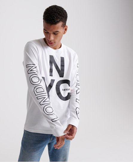 Superdry Brand Language City Long Sleeved Top