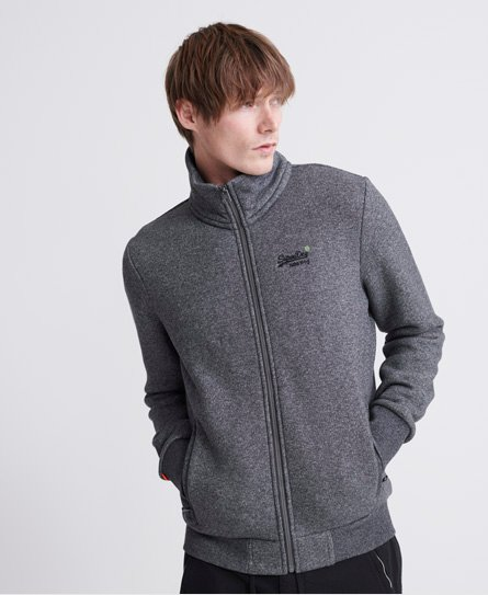Gris Homme Superdry Classic Zip Track Top