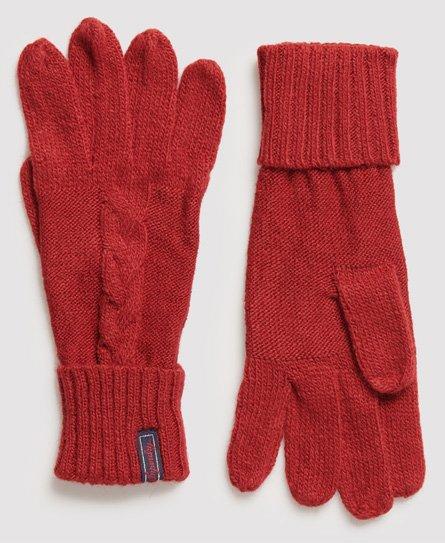 Superdry Lannah Handschuhe mit Zopfmuster