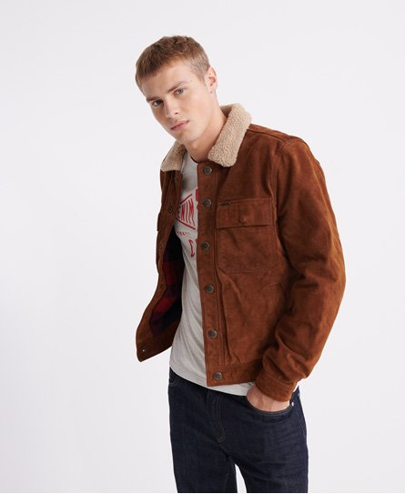 Superdry Merchant Store Suede Trucker Jacket