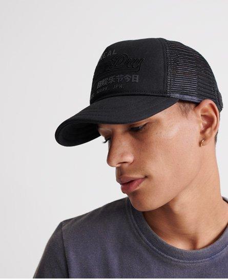 Superdry New Mens Trucker Hat Baseball Cap Snapback Mesh Panel Black Khaki Camo