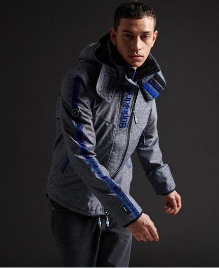 Superdry Homme Veste Parka SD 3, Bleu Vestes de sport