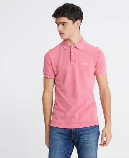 Organic Cotton Vintage Destroyed Pique Polo Shirt165047